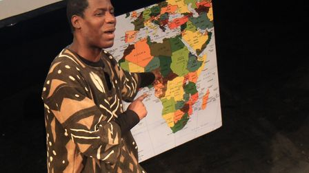 Michael Angus Clarke, writer and actor, in his one-man play From Zimbabwe With Love. Photo: Will Dow