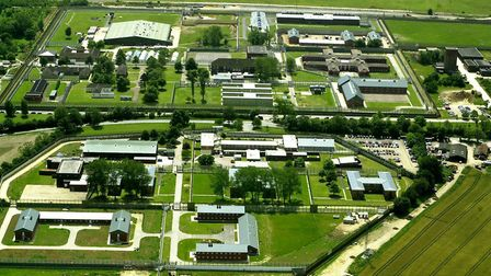 Aerial view of HM Prison Highpoint South. Picture: ANDY ABBOTT