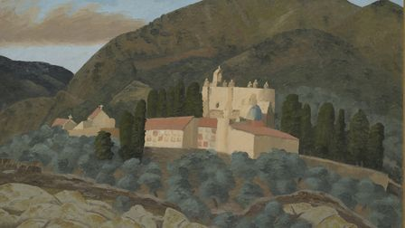 Cemetary, Cadaques, 1954 by Cedric Morris in the Gainsborough's House exhibition. Photo: Cedric Morr
