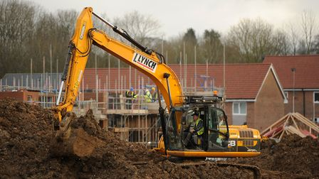 File photo dated 11/01/13 of construction work on a housing development in Basingstoke, Hampshire as