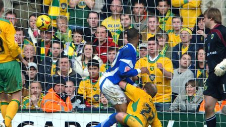 Danny Haynes tips the ball into the net to score the winning goal