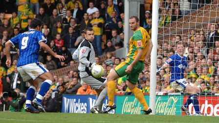 Counago also scored for the Blues at Carrow Road in 2006. Picture: Ashley Pickering