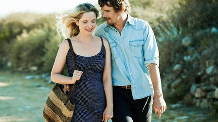 Ethan Hawke and Julie Delpy as Jesse and Celine encounter the realities of romance in Before Midnigh