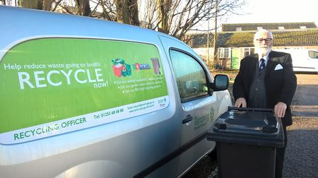 Wheelie bins could be introduced to most homes in Tendring under proposed changes. Pictured is Micha