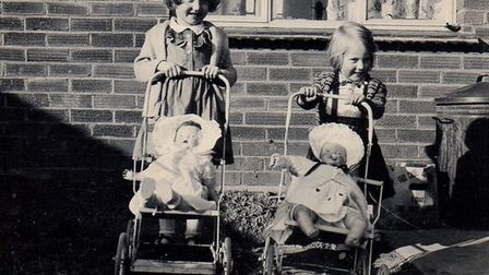 Barbara Gilhooly and Vivian Joyce when they were young girls. Picture: DAVID GILHOOLY