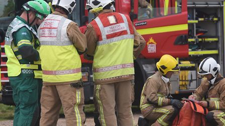 Fire fighters and an ambulance crew were called to the scene (stock image). Picture: DENISE BRADLEY