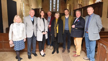 Lord Bristol and members of Ickworth Church meet to promote fundraising gala to raise funds for upke