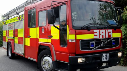 Suffolk Fire and Rescue Service sent three crews to the scene of a crash in Ipswich (library image).