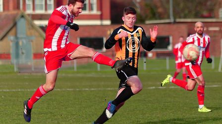Joe Francis and Felixstowe will hope to get back to league action this weekend. Photo: STAN BASTON.