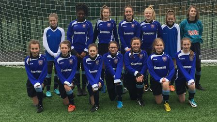 The Kesgrave High School Girls' Under 13 side. Picture: SUFFOLK FA