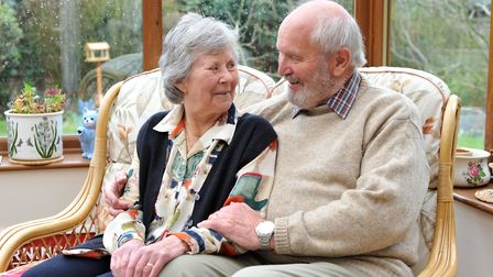 Mike and Leila Gardener are celebrating 60 years together. Picture: SARAH LUCY BROWN