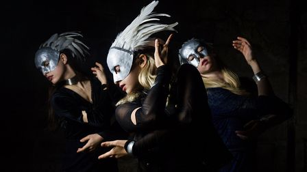 Macbeth by Mark Bruce Company is at DanceEast this weekend. Pictured here are the witches. Picture: