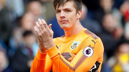 Nick Pope has been called up to the England squad just seven years after playing for Bury Town. Pict
