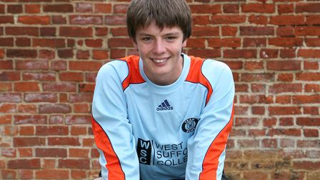 A young Nick Pope in Bury Town colours back in 2009. Picture: ARCHANT