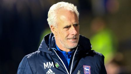Ipswich manager Mick McCarthy discussed his future at yesterday's press conference. Picture: Steve