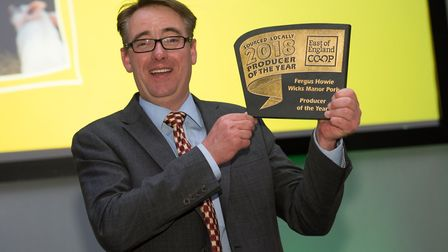 East of England Co-op Producer of the Year 2018 winner, Fergus Howie of Wicks Manor. Picture: Ashley