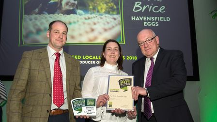Alaistaire and Fiona Brice of Havensfield Eggs, county runners-up in the East of England Co-op Produ