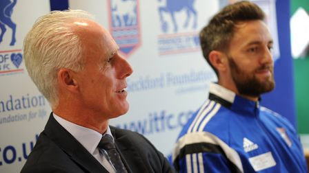 Cole Skuse (right) believes Mick Mccarthy's contract situation should have been sorted sooner. Photo