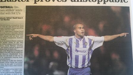 How the EADT reported on the U's 1-0 home win over Yeovil from November, 2008.