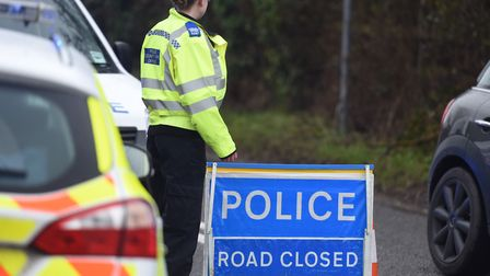 Five cars have been involved in two separate accidents on the A14. Picture: GREGG BROWN
