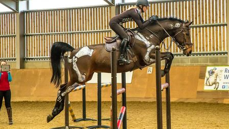 Skeleton Jump at the equine centre at Writtle University College PIC: Boots and Hooves