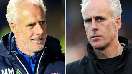 Mick McCarthy as Ipswich manager (left) and Wolves boss (right)