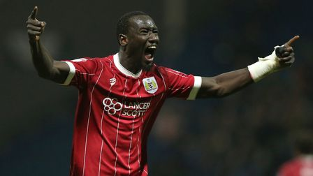 Bristol City paid �5.3m to sign striker Famara Diedhiou from French club Angers last summer. Photo: