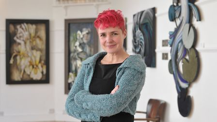 Artist Kirsty Stutter has an exhibition at the Artspace Gallery in Woodbridge. Picture: SARAH LUC