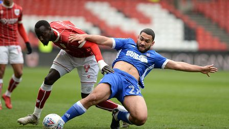 Cameron Carter-Vickers battles at Ashton Gate. Picture Pagepix