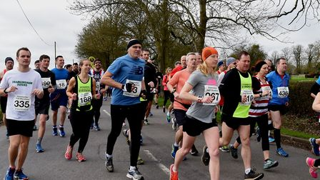 Competitors in last year's Stowmarket Half-Marathon. This year's event has been cancelled because of