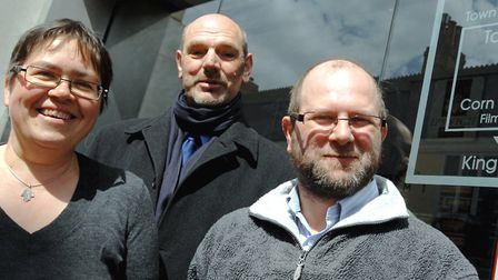 Jane Riley with fellow IFT trustees Dennis Miller and Andrew Clarke. Picture: ARCHANT