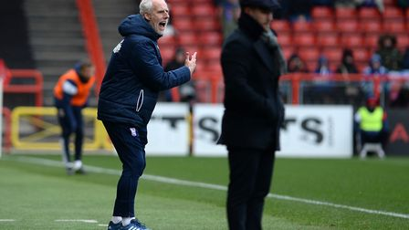Mick McCarthy gives out instructions at Bristol City. Photo: Pagepix