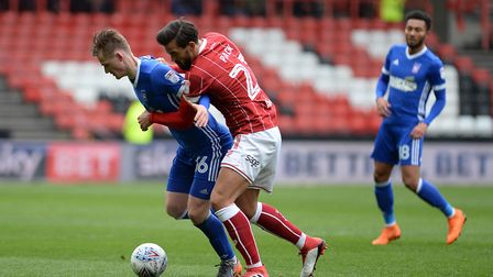 Marlon Pack sticks very close to Callum Connolly Picture Pagepix