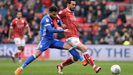 Grant Ward challenges Marlon Pack at Bristol City Picture Pagepix