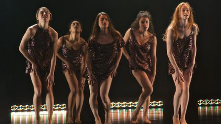 Dancers from Sally Marie's production of BEAUTiFUL, an exploration of female sexuality, which is bei