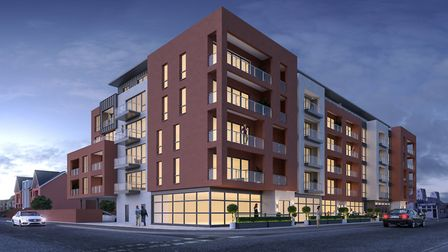 A CGI of the proposed redevelopment of the former Cavendish site on Felixstowe seafront. Picture sup