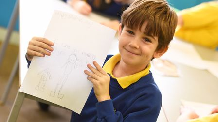 Students at Pot Kiln Primary School make Mother's Day cards. Picture is Liam Matthews. Picture: GREG