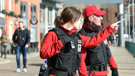 Ipswich Central rangers are helping to keep the town centre tidy. Picture: IPSWICH CENTRAL