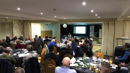 Pig producers at the Waylands Farm meeting at Diss. Picture: JANE JORDAN