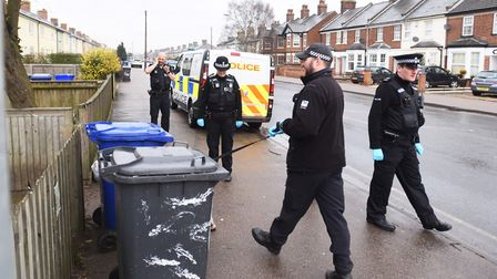 Suffolk police officers during a recent raid in the county. Picture: ARCHANT