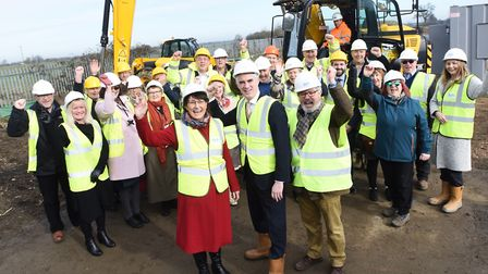 Official sod turning for new homes being built by Lavenham Community Land Trust & Hastoe Housing. Pi