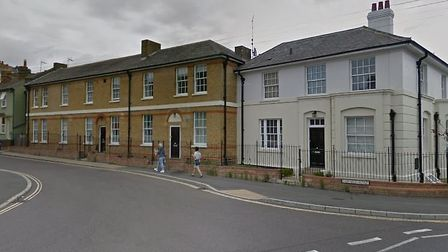 Fairfield Road, Braintree, where a flat fire has closed the road to traffic. Picture; GOOGLE