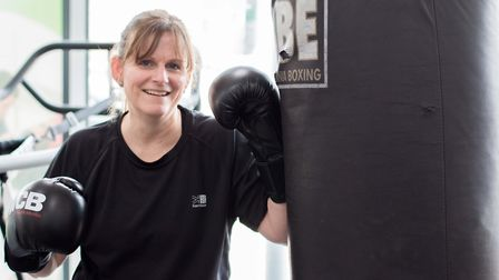 50-year-old Mary-Jane Budd from Ipswich will be making her boxing debut next month. Picture: UNIVERS
