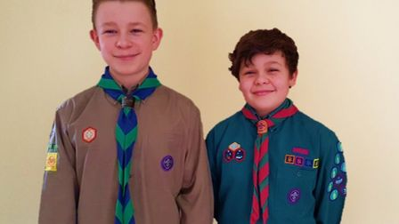 Fred and Stan Allsop are together trying to raise almost £8,000 to go to the World Scout Jamboree. P