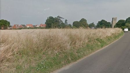 Land off Church Lane in Carlton Colville, which has been recommended for refusal. Picture: GOOGLE MA