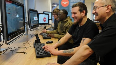 The Mygo centre in Ipswich gives young people the chance to find work and get careers advice. Pictur