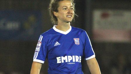 Cassie Craddock after scoring against Norwich City. Picture: ROSS HALLS