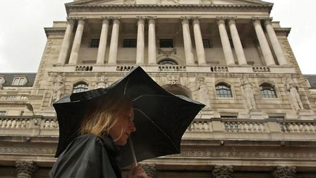 The Bank of England in London. Picture: Dominic Lipinski/PA