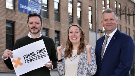 ( Left to right) Professor Aled Jones, director of Anglia Ruskin's Global Sustainability Institute,