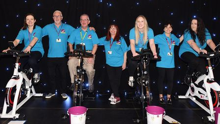 The St Elizabeth Hospice team at the RideFest final at Trinity Park. Picture: GREGG BROWN